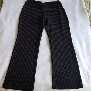 Fashion Bug black and pink pinstripe pants